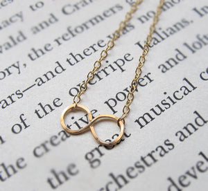 Gold Infinity Pendant Necklace - Gift for Her