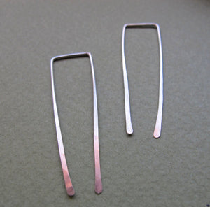 Long Square Top Threader Earrings