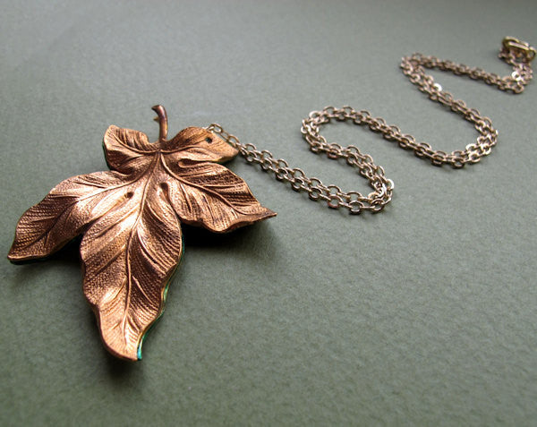 Big maple leaf pendant autumn necklace canadian jewelry nadin big maple leaf pendant autumn necklace aloadofball Gallery