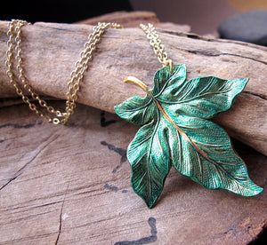 Big Maple Leaf Pendant Autumn Necklace