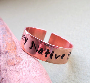 Custom Band - Personalized Name Ring