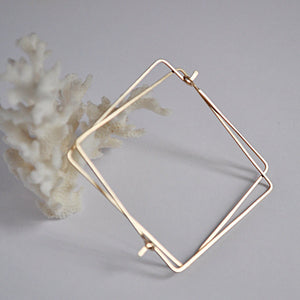 Gold Filled Square Hoop Earrings