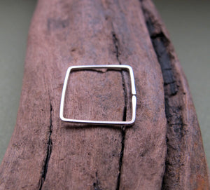 Men's Square Hoop Earring for Men