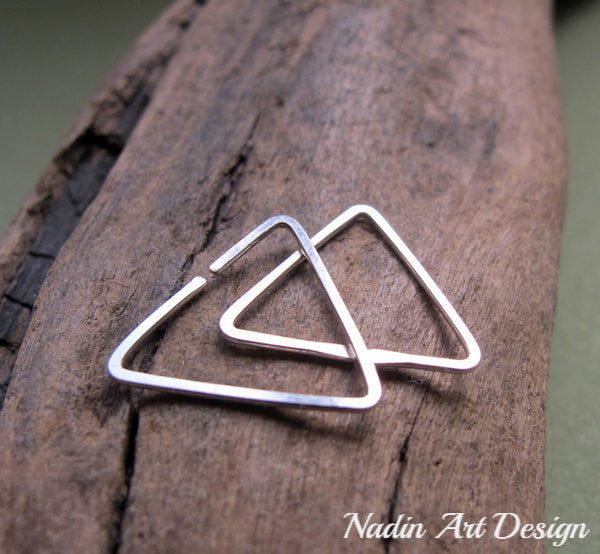 Small Triangle Hoop Earrings