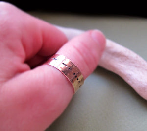 Morse Code Ring - Copper Name Ring