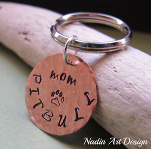 Dog tag engraved keychain