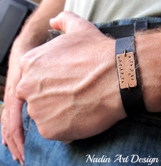 Personalized Men's GPS Wristband