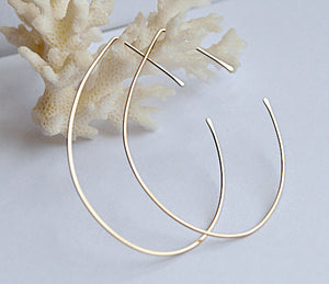 Lotus Gold Hoop Earrings