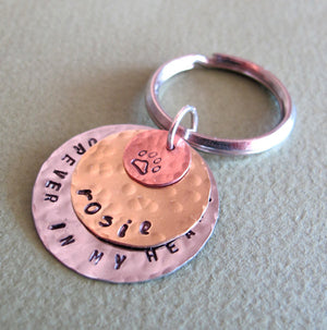 Custom Keychain - Pet Collar Pendant
