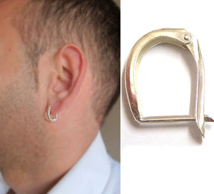 Sterling Silver Big Earring for Men