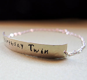 Name Bar Bracelet for Women and Men