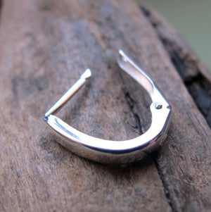 Dark Silver Earring for men