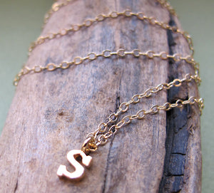 Initial Necklace - Monogram Letter Charm