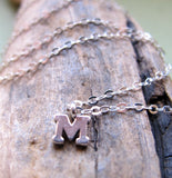 Sterling Silver Alphabet Pendant Necklace
