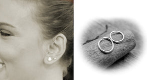Extra Small Sterling Silver Cartilage Hoops