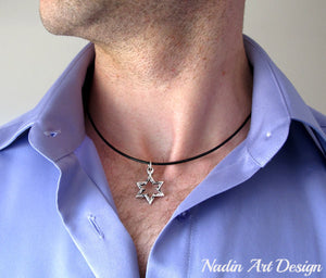 Jewish star pendant necklace