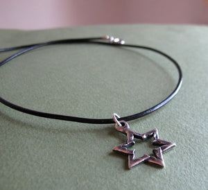 Hebrew Jewelry - Star of David Necklace for Men