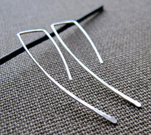 Oxidized Sterling Silver Black Earrings