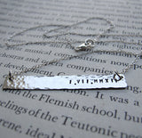 Rectangular Pendant Name Necklace
