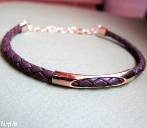 Braided Leather Bracelet for Men - Mens Gift