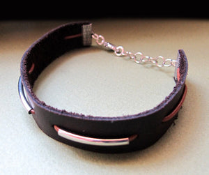 Adjustable Leather Band Bracelet for Men