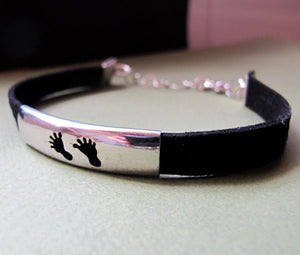 Baby Feet Leather Bracelet