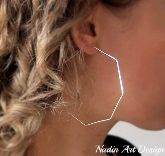 Geometric Lightweight Silver earrings