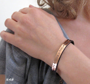 Personalized Leather Bracelet for Women