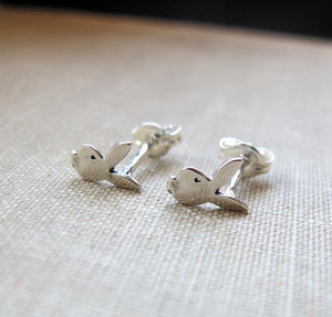 Rabbit Stud Earrings - Bunny Studs