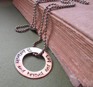 Engraved Disc Necklace - Custom Pendant