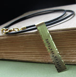 Engraved Tag Date Necklace