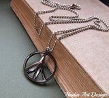 Large Peace Sign Necklace