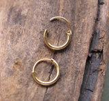 Gold Huggie Earrings - Small Hoops