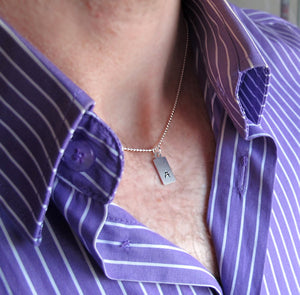Initial ID Pendant Necklace for Men