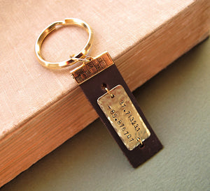 Royal Longitude Latitude Keychain