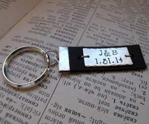 Custom Leather Key Chain - Mens Gift - personalized keychains