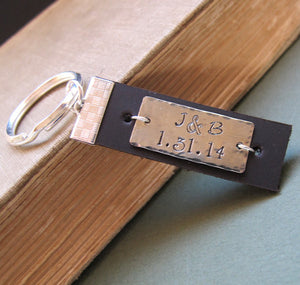 Custom Leather Key Chain - Mens Gift