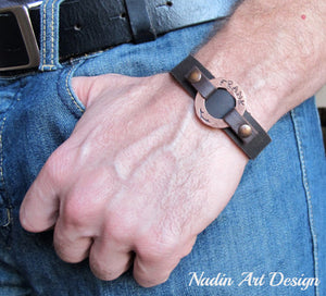 Washer id bracelet for men