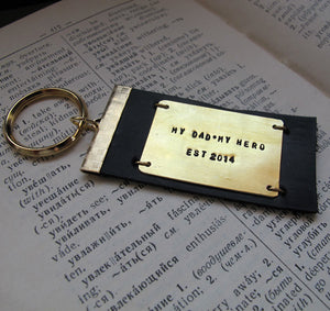 Quote Engraved Personalized Keychain for Him