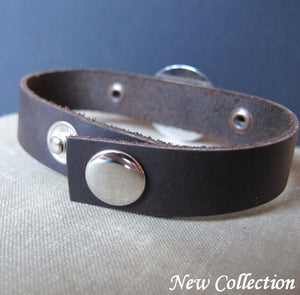 Leather Handwriting Bracelet for Men