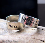 Word Ring - Adjustable Custom Band