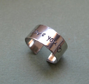 Adjustable Custom Sterling Silver Ring