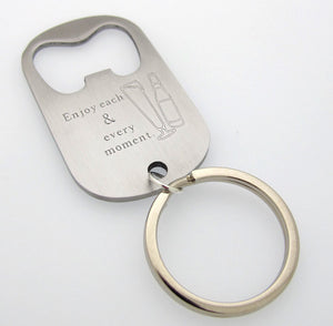 Custom Bottle Opener Keychain, Cool Mens Gifts