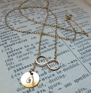 Gold Layered Necklace with Initial Charm
