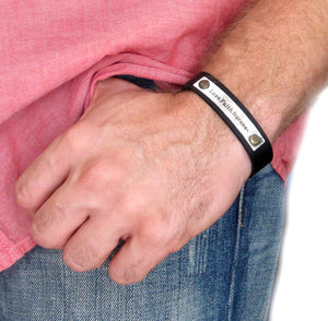 Personalized Leather ID Wristband