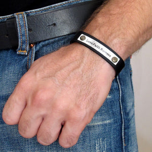 Men's Gift - Latitude Longitude Bracelet Cuff for Men