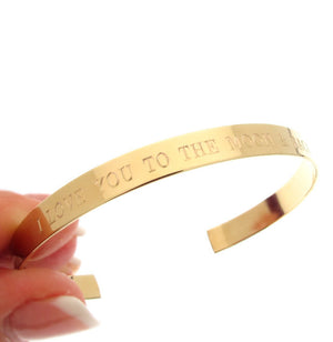 Inspirational Quote Gold Bracelet