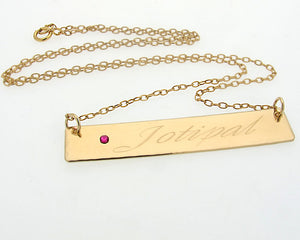 Nameplate Necklace - Personalized Necklace for her