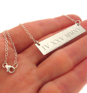 Personalized Date Pendant Necklace