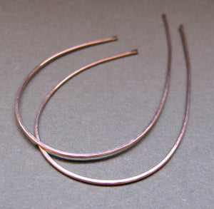Gold Wishbone Earrings - Open Hoop Earrings